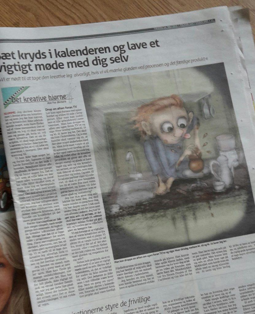 ane fur øhrberg i avisen om kreativitet